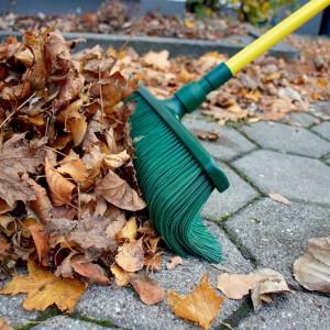 Balai extérieur GARDIREX 2-en-1 qui pousse les feuilles